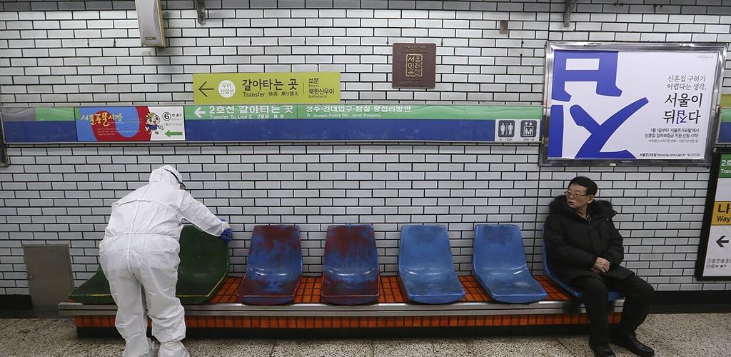 Koronaviruso protrūkis Pietų Korėjoje tapo didžiausias už Kinijos ribų
